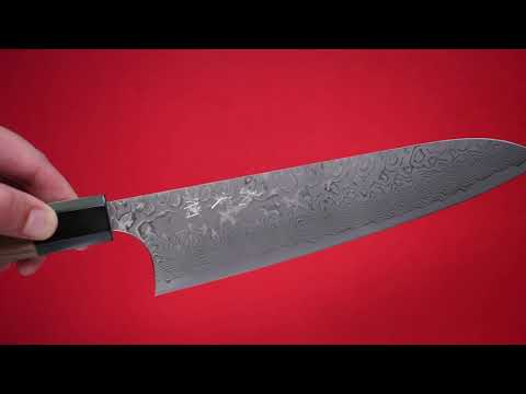 Yoshimi Kato R2/SG2 Damascus Gyuto Japanese Chef Knife 210mm with Walnut Handle