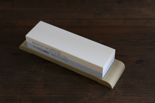 Suehiro Two Sided MINI Sharpening Stone with Rubber Base - #1000 & #3000