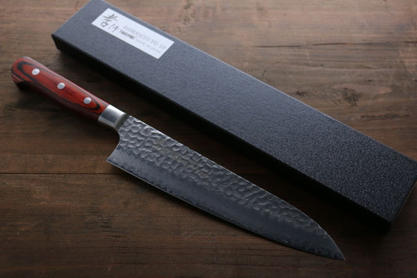 Sakai Takayuki 33 Layer Damascus Gyuto 210mm & Petty 150mm Japanese Kitchen Chef Knives Set - Seisuke Knife