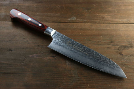 Sakai Takayuki AUS10 45 Layer Mirrored Damascus Nakiri Japanese Chef Knife 160mm
