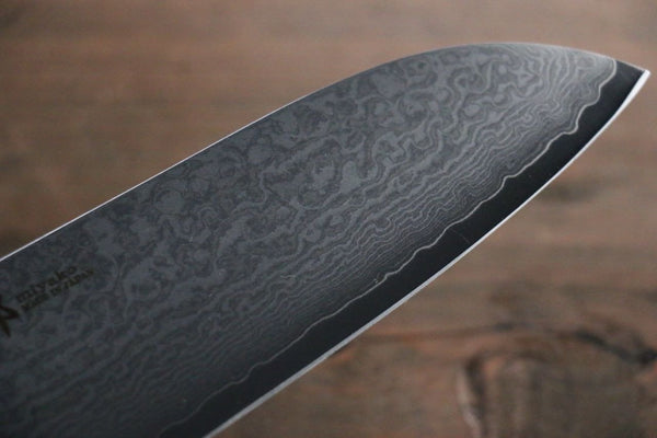 Miyako 33 Layer Damascus AUS-8a Japanese Santoku Knife, 165mm - Seisuke Knife