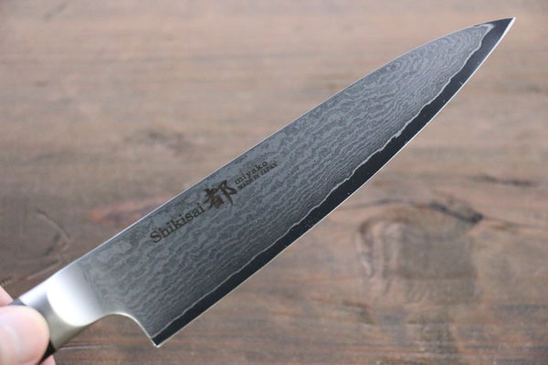 Miyako 33 Layer Damascus AUS-8a Petty Utility Japanese Chef Knife, 130mm - Seisuke Knife
