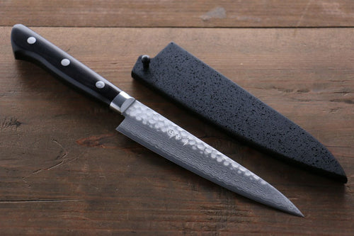 Seisuke VG10 19 Layer Damascus Petty Japanese Chef Knife, 135mm with Saya Sheath