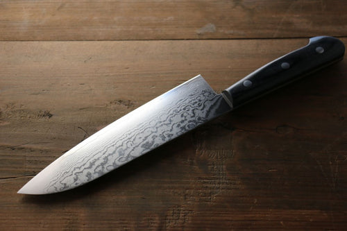 Iseya VG10 G-Series 33 layer Damascus Japanese Chef's Santoku Knife 180mm - Seisuke Knife