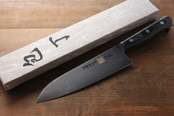 Iseya VG10 G-Series 33 layer Damascus Japanese Chef's Santoku Knife , 180mm