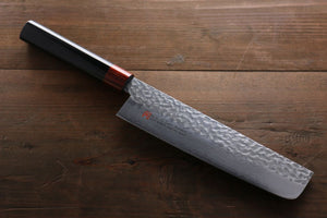 Iseya VG10 33 Layer Damascus Hammered Nakiri Japanese Chef Knife, 180mm - Seisuke Knife