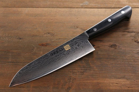 Yoshimi Kato VG10 nickel Damascus Santoku Japanese Chef Knife 180mm