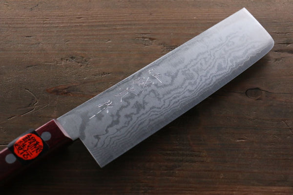 hand forged japanese kitchen knives shigeki tanaka 17 layer damascus hand forged japanese chef s nakiri kn seisuke knife 8087