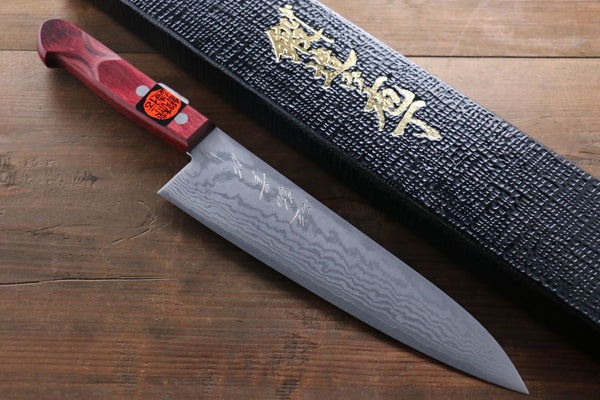 Shigeki Tanaka 17 Layer Damascus Hand Forged Japanese Chef's Gyuto Knife 180mm
