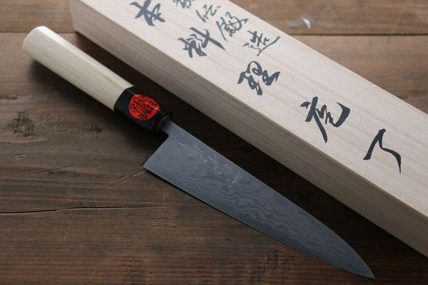 Shigeki Tanaka Blue Steel 17 Layer Damascus Japanese Chef's Petty Knife 150mm