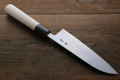 Shigeki Tanaka Blue Steel No.2 17 Layer Damascus Japanese Chef's Santoku Knife 165mm with  Magnolia Handle (ferrule: Water Buffalo) - Seisuke Knife