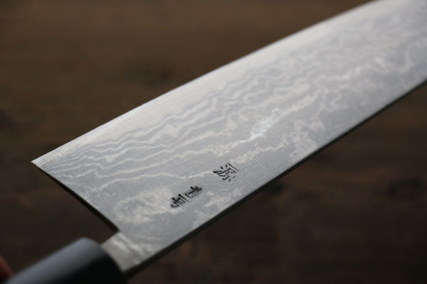 Shigeki Tanaka Blue Steel 17 Layer Damascus Japanese Chef's Gyuto Knife 180mm