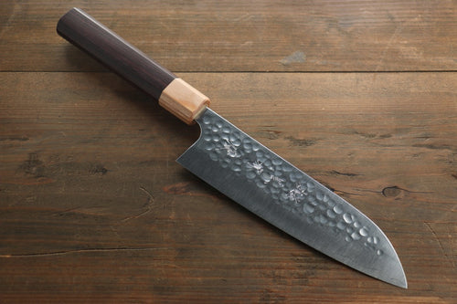 Yu Kurosaki R2/SG2 steel Hammered Japanese Chef's Santoku Knife 180mm