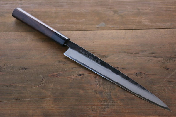 Takayuki Iwai Blue Steel No.2 Kurouchi Finish Sashimi Japanese Chef Knife 210mm