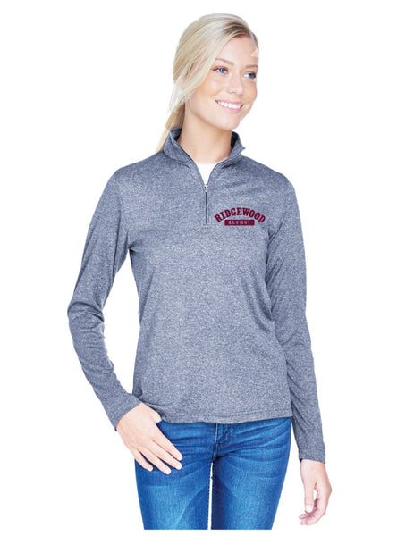 Ladies Embroidered Cool & Dry Heathered Performance Quarter-Zip