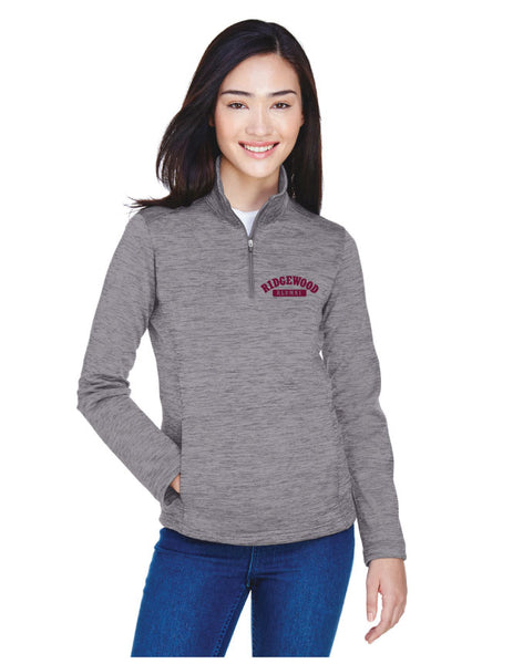 Ladies Embroidered Fleece Quarter-Zip