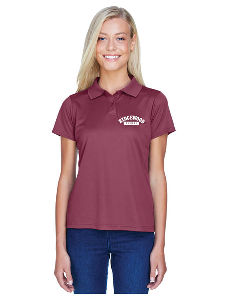 Ladies Embroidered Polytech Polo