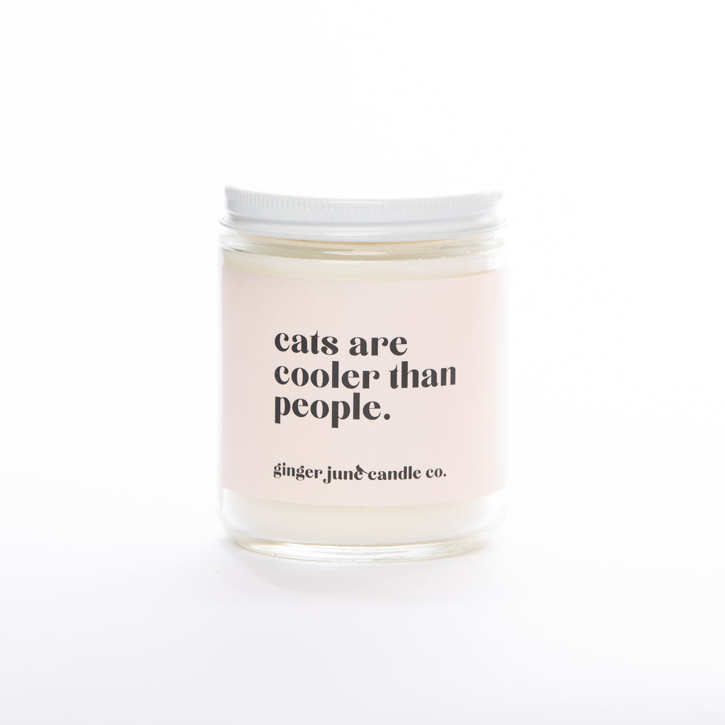 cats are cooler than people • soy candle