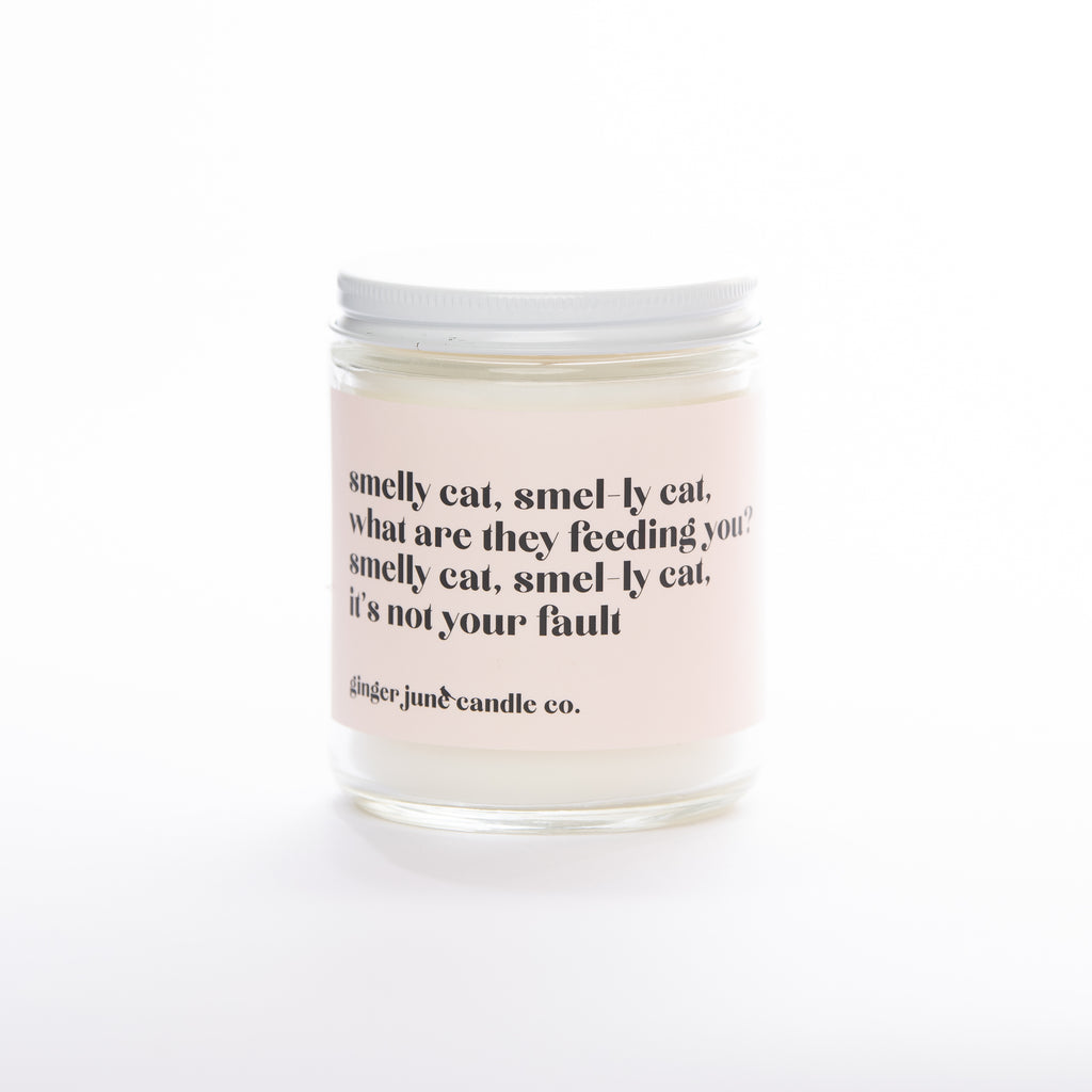 smelly cat, smell-ly cat • soy candle