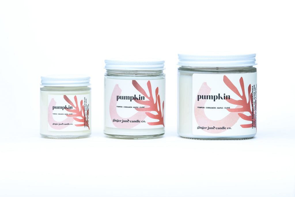 pumpkin • terra collection • non toxic soy candle
