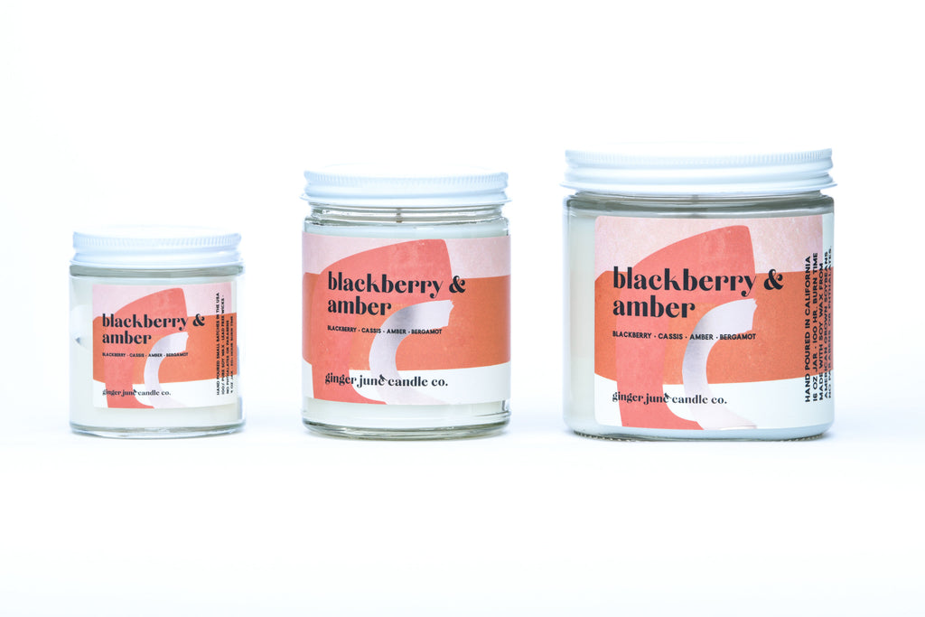 blackberry & amber • terra collection • non toxic soy candle