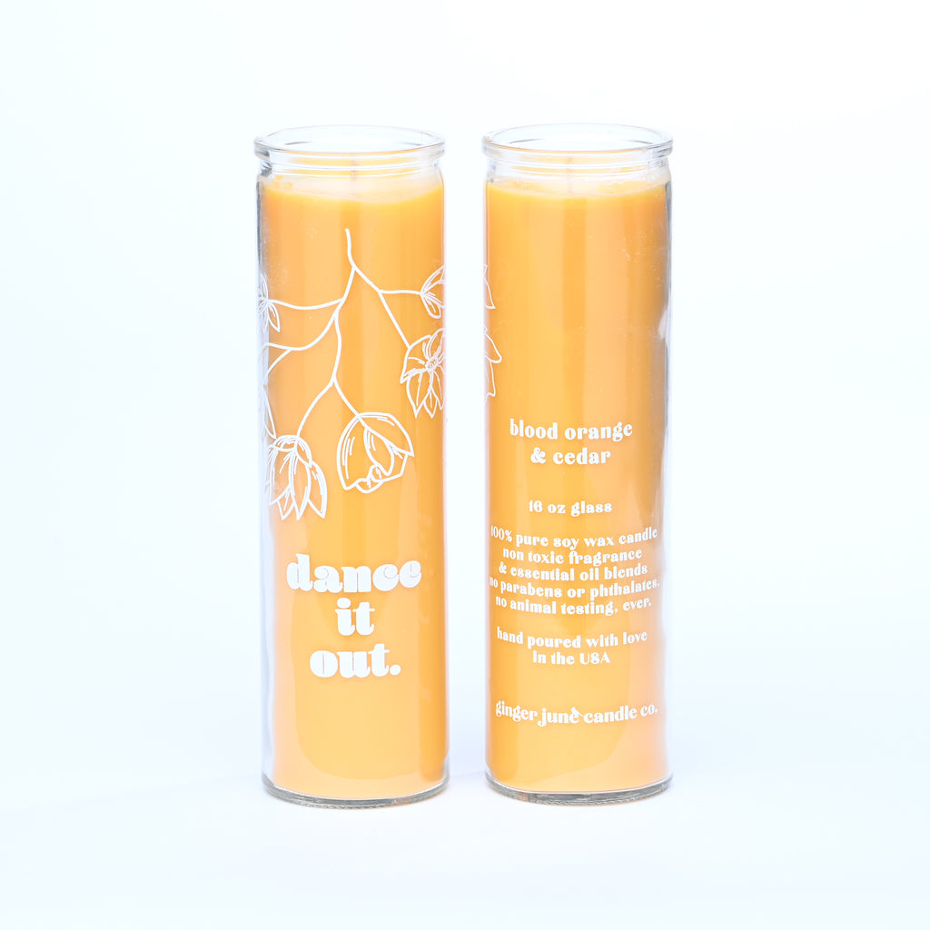 SALE - WONKY - dance it out • elevate collection • 16 oz tall soy candle