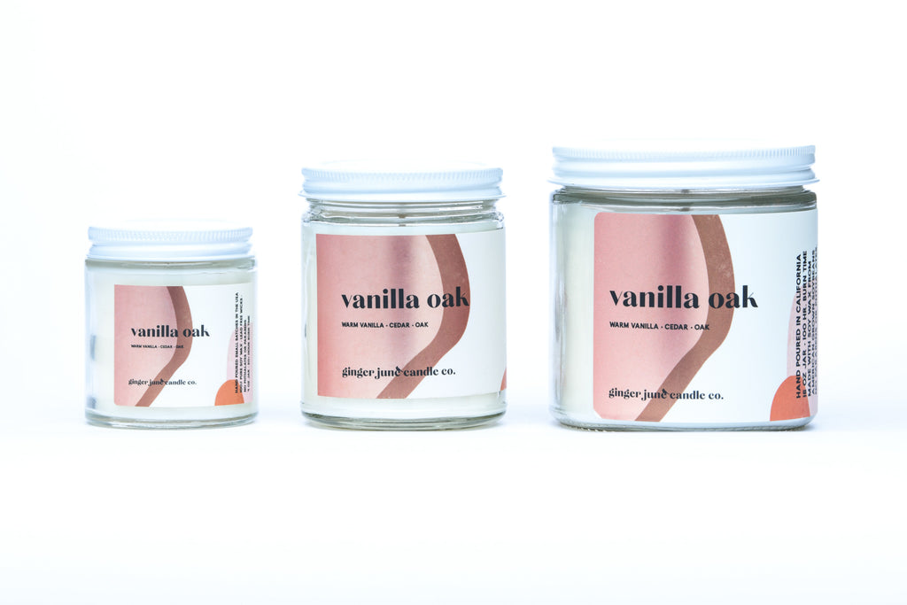 vanilla oak • terra collection • non toxic soy candle