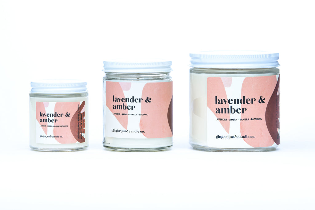 lavender amber • terra collection • non toxic soy candle