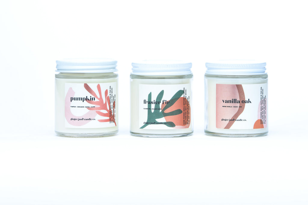mini fall scent set of 3 • terra collection • non toxic soy candle