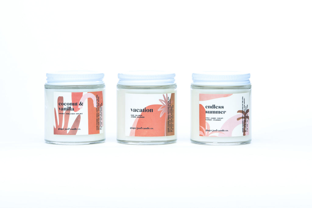 mini beachy set of 3 • terra collection • non toxic soy candle