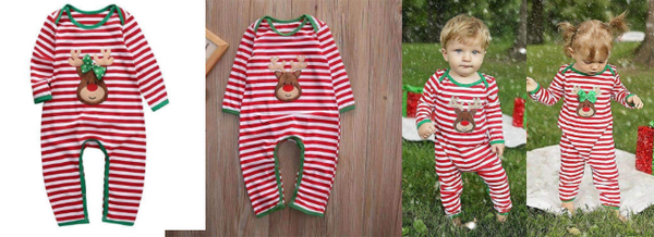 18f9cf9db The best selling Baby Christmas Outfit since Day 1! Definitely a cutie!  Right? I know you'll love this nice reindeer romper too. Well, who wouldn't?