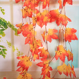 10x Fall Maple Leaf Decorative Flowers Artificial Garland For Autumn Weddings & Garden Parties Decoration Hot Sale - Gaia Spot