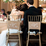 1 Pair Romantic Wedding Chair Place Signs