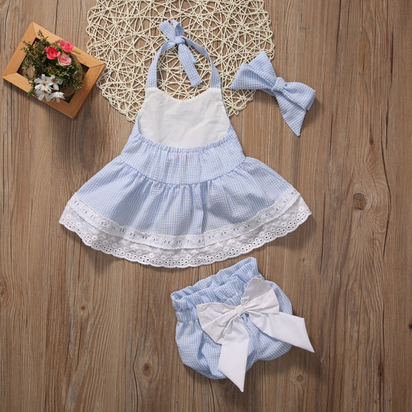 Baby Girls Bow knot  clothes set.