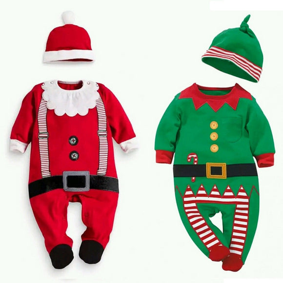 Christmas baby Romper with Hat