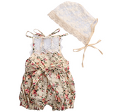 Amira Backless Lace Floral Romper for Babies - Gaia Spot