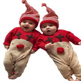 Devon Christmas Reindeer Baby Outfit Set