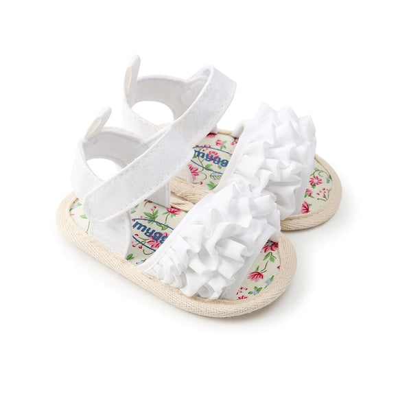 Summer Baby Girls Floral Lace Sandal Shoe