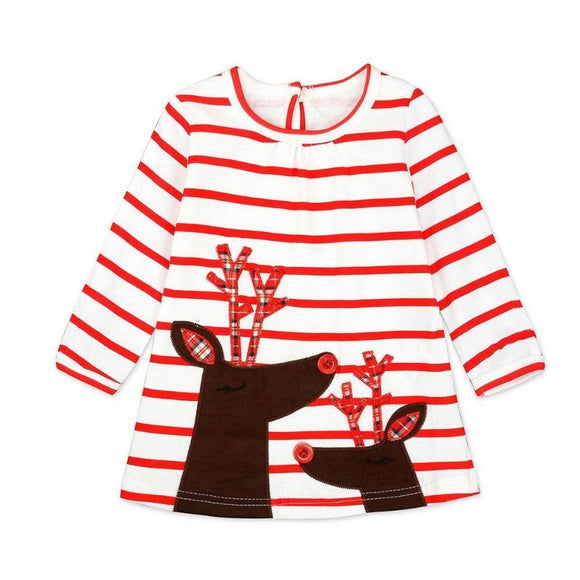 Belle Long Sleeve Red Striped Dress - Gaia Spot