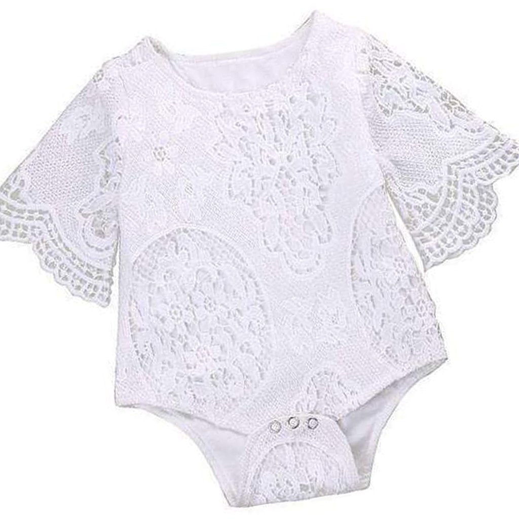 24a427076f73 Cute Baby Girls White Lace Romper for Summer Outfit – Gaia Spot