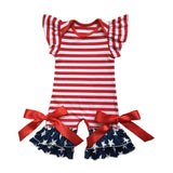 Evangeline 4th of July Retro Romper Jumpsuit - Gaia Spot