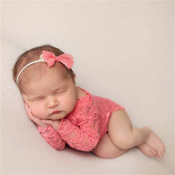 Girl Lace Romper Photo Prop
