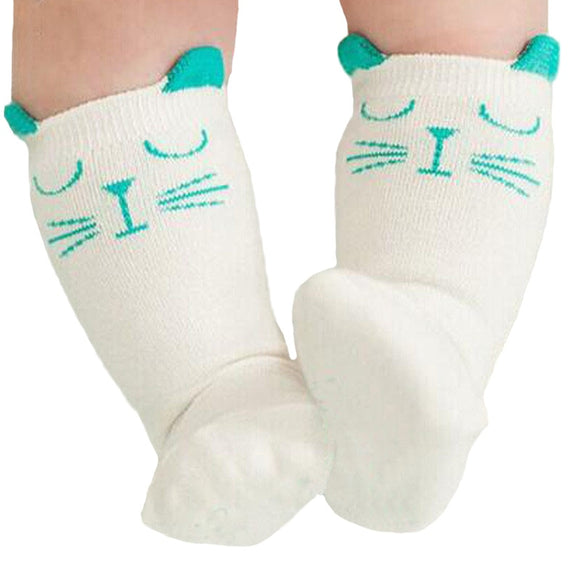 Teal Kitten Socks