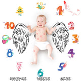 Cartoon Pattern Baby Milestone Photo Props