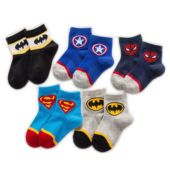 Super Hero 5 Pairs Children Socks