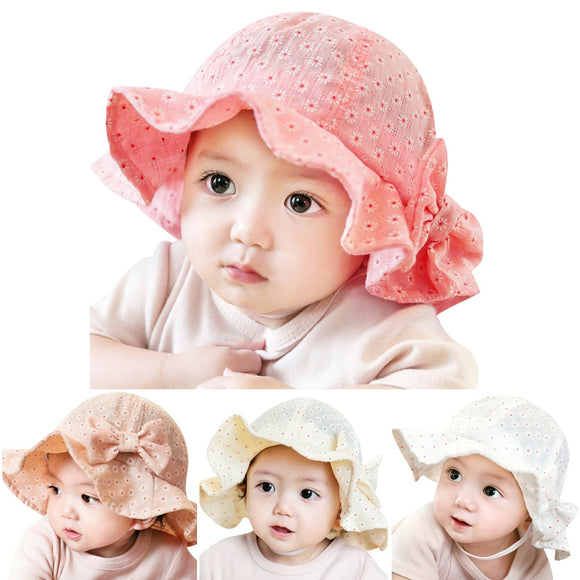 Cotton Blends Baby Hat Toddler Infant Sun Cap Summer Outdoor Baby Girl Floral Hats Sun Beach Bucket Hat 4 Colors - Gaia Spot