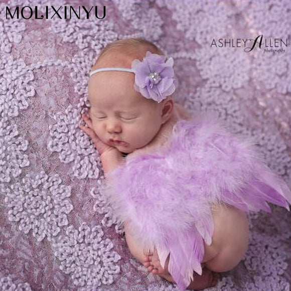 Newborn Angel Wing And Headband Photography Props