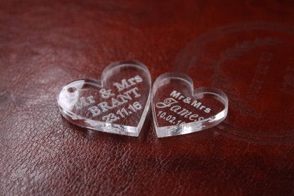 Bitonto Heart Personalized Wedding Souvenirs 50 pcs - Gaia Spot