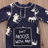 """Don't Moose with Me"" Baby Romper - Gaia Spot"