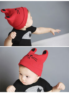Fall/Winter Cotton Knitted Beanie Hat with Ears Offer - Gaia Spot